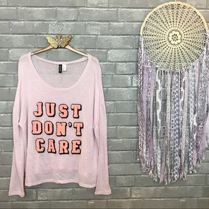 divided by h&m // blush pink knit pullover top l